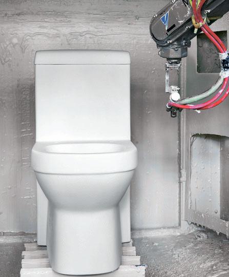 Фабрика HUIDA фото производства туалета