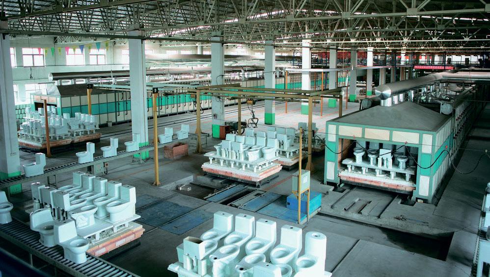 Завод HUIDA фото производство унитазов и биде