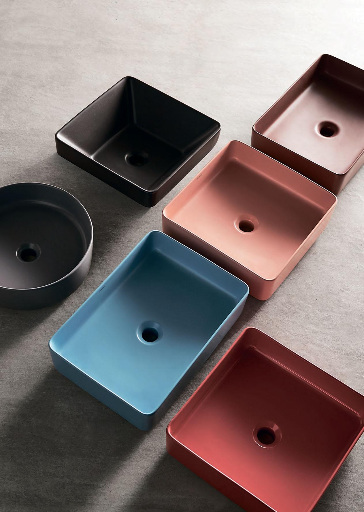 Раковина (умывальник) накладная цветные прамоугольные и квадратные тонкостенная Creo