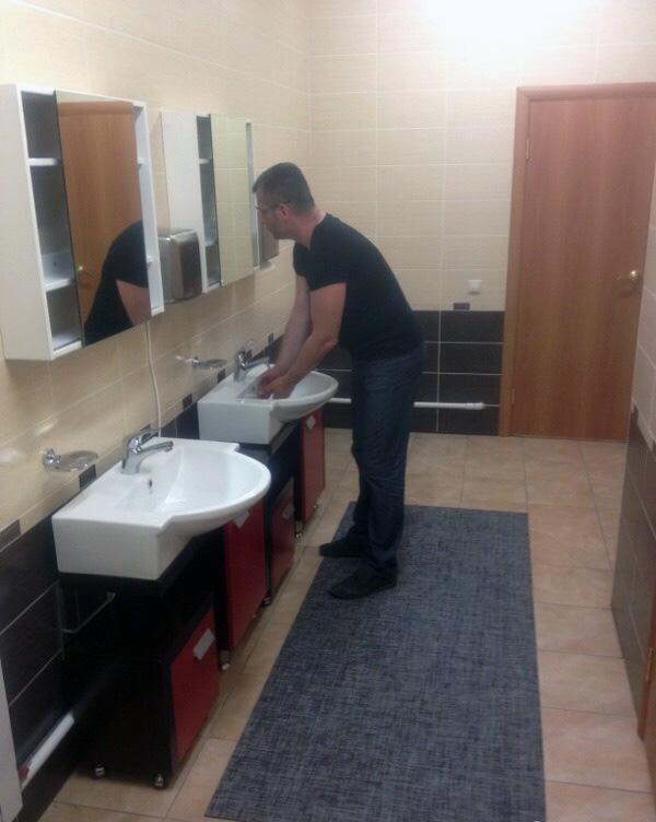Туалет в офисе